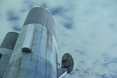 De achtergrond van de telecommunicatie Royalty-vrije Stock Foto's