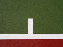 De achtergrond van de tennisbaan Stock Foto's