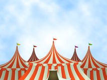 De Achtergrond van de Tenten van het circus Royalty-vrije Stock Fotografie