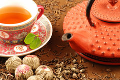 De achtergrond van de thee royalty-vrije stock afbeelding