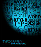 De achtergrond van de typografie Royalty-vrije Stock Foto