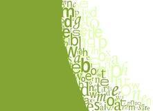 De Achtergrond van de typografie Vector Illustratie