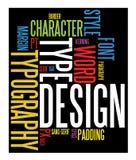 De achtergrond van de typografie Royalty-vrije Stock Foto's