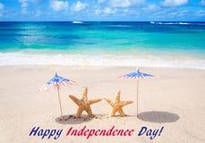 De achtergrond van de V.S. van de onafhankelijkheidsdag met zeesterren royalty-vrije stock fotografie