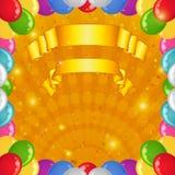 De achtergrond van de vakantie met ballons Royalty-vrije Stock Afbeeldingen