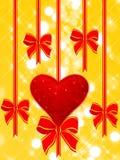 De achtergrond van de vakantie met hart Royalty-vrije Stock Foto