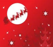 De achtergrond van de vakantie met santa Stock Illustratie