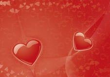 De achtergrond van de valentijnskaart Royalty-vrije Stock Foto's