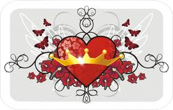 De achtergrond van de valentijnskaart Royalty-vrije Stock Afbeelding