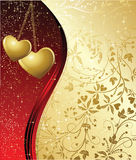 De achtergrond van de valentijnskaart Royalty-vrije Stock Foto