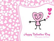 De achtergrond van de valentijnskaart Stock Foto