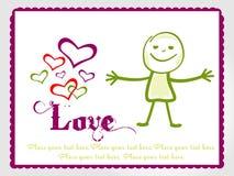 De achtergrond van de valentijnskaart Stock Fotografie