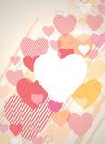 De Achtergrond van de valentijnskaart royalty-vrije illustratie