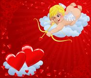 De achtergrond van de valentijnskaart Stock Afbeelding
