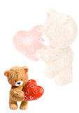 De achtergrond van de valentijnskaart Royalty-vrije Stock Afbeeldingen