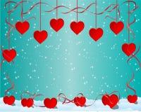 De achtergrond van de valentijnskaart Stock Afbeeldingen