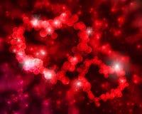 De achtergrond van de valentijnskaart bokeh Royalty-vrije Stock Foto