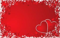 De achtergrond van de valentijnskaart grunge, vector stock illustratie