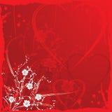 De achtergrond van de valentijnskaart grunge, vector vector illustratie