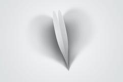 De achtergrond van de valentijnskaart - hart-vormige schaduw vector illustratie