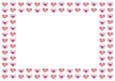 De Achtergrond van de valentijnskaart met exemplaar-ruimte Royalty-vrije Stock Afbeelding