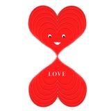 De achtergrond van de valentijnskaart met hart in liefde Royalty-vrije Stock Fotografie