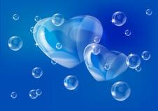 De achtergrond van de valentijnskaart met harten Royalty-vrije Stock Afbeeldingen