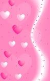 De achtergrond van de valentijnskaart met harten Stock Afbeelding