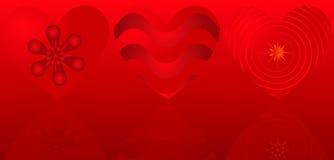 De achtergrond van de valentijnskaart met harten Royalty-vrije Illustratie