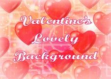 De achtergrond van de valentijnskaart met harten stock illustratie