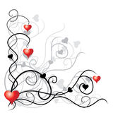 De achtergrond van de valentijnskaart met plac Stock Foto