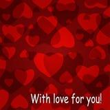 De achtergrond van de valentijnskaart `s Stock Afbeelding