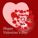 De achtergrond van de valentijnskaart `s Royalty-vrije Stock Fotografie