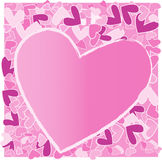 De achtergrond van de valentijnskaart van Grunge Stock Foto's