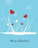 De achtergrond van de valentijnskaart - vector vector illustratie