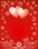 De achtergrond van de valentijnskaart, vector Stock Afbeelding