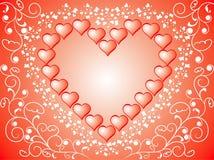 De achtergrond van de valentijnskaart, vector Stock Fotografie