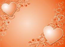 De achtergrond van de valentijnskaart, vector Royalty-vrije Stock Foto's