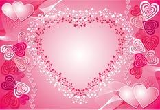 De achtergrond van de valentijnskaart, vector Royalty-vrije Stock Fotografie