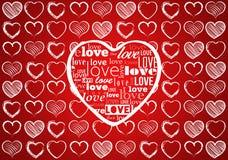 De achtergrond van de valentijnskaartendag royalty-vrije illustratie