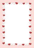 De achtergrond van de valentijnskaartendag Het rode Kader van de Hartengrens Vectorkader met Ruimte voor uw Tekst vector illustratie