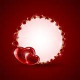 De achtergrond van de valentijnskaartendag met harten Stock Fotografie