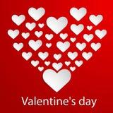 De Achtergrond van de valentijnskaartendag met harten. Vectorillu royalty-vrije illustratie
