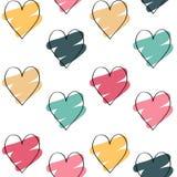De achtergrond van de valentijnskaartendag met kleurrijke harten stock illustratie