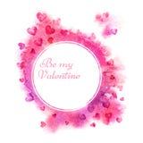 De achtergrond van de valentijnskaartendag Valentine-affiche Een vectorillustratie royalty-vrije illustratie