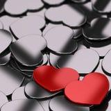 De Achtergrond van de valentijnskaartenkaart Stock Fotografie