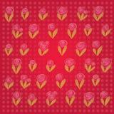 De achtergrond van de vectorValentijnskaart. Discrete bloemen beweging veroorzakend met ruimte voor uw tekst. Stock Afbeeldingen