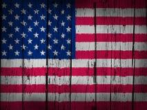 De Achtergrond van Grunge van de Vlag van de V.S. Stock Afbeelding