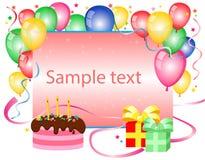 De achtergrond van de verjaardag Stock Foto's