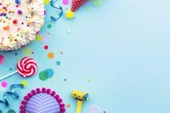 De achtergrond van de verjaardagspartij royalty-vrije stock afbeeldingen